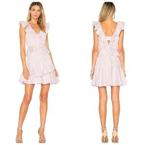 NWT Rebecca Taylor Revolve Ruffle Dress Iris Haze